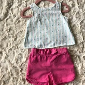Baby Girl - Carter's - 2-Piece Top & Short set